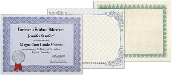 Standard Certificates