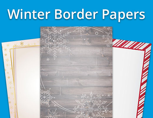 Winter Border Papers
