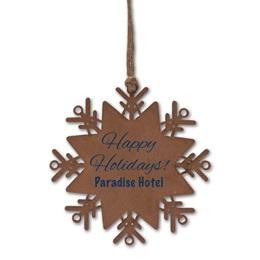 Snowflake Balsa Wood Ornament