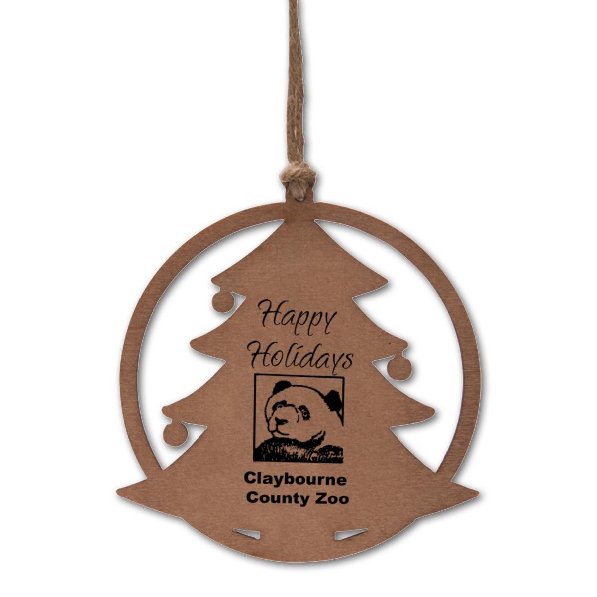 Christmas Tree Balsa Wood Ornament Paper Direct