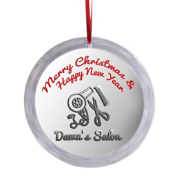 Round Acrylic Ornament