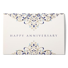 Filigree Happy Anniversary Greeting Card