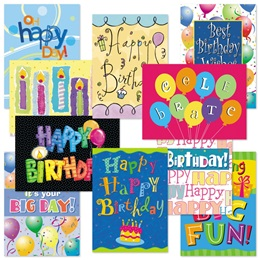 Birthday Card Assortment VII
