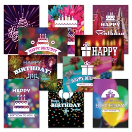 Birthday Card Assortment XVI