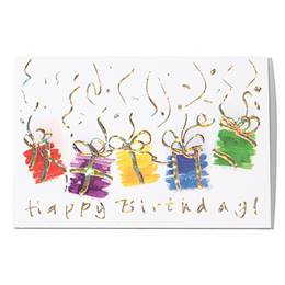 Holographic Happy Birthday Greeting Card