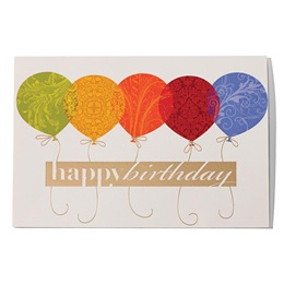 Balloons Happy Birthday Greeting Card
