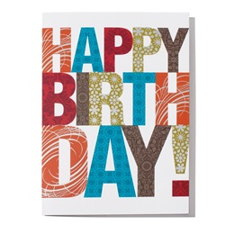 Happy Birthday in Large Letters Greeting Card