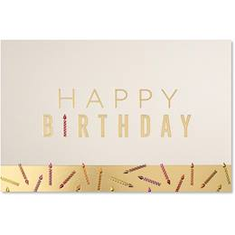 Colorful Candle Wishes Birthday Greeting Card