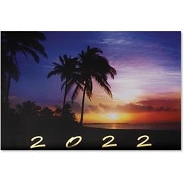 Tropical Nights Calendar Card