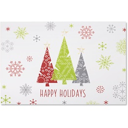 Three Trees Holiday Greeting Cards