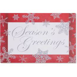 Elegant Snowflakes Holiday Greeting Cards