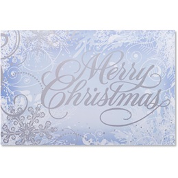 Frosty Blue Holiday Greeting Cards
