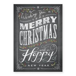 Chalkboard Christmas Holiday Card