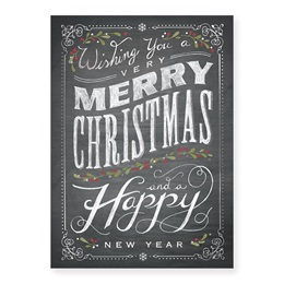 Chalkboard Christmas Holiday Card