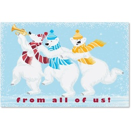 Whimsical Polar Bears Classic Holiday Cards