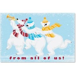 Whimsical Polar Bears Classic Holiday Cards