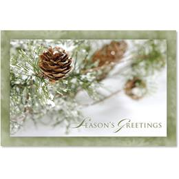 Frosty Pinecones Classic Holiday Cards