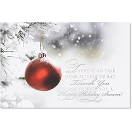 Crimson Thank You Holiday Card