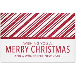 Red Stripe Holiday  Greeting Cards