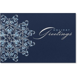 Delicate Snowflake Deluxe Holiday Cards