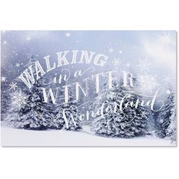 Winter Wonderland Walking Deluxe Holiday Cards