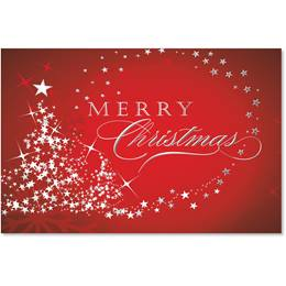 Starry Tree Merry Christmas Deluxe Holiday Greeting Card