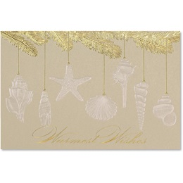 Seashell Wishes Deluxe Holiday Cards