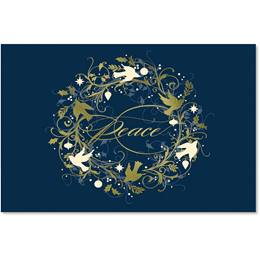 Peaceful Doves Deluxe Holiday Cards