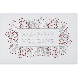 Cheery Berries Deluxe Holiday Cards