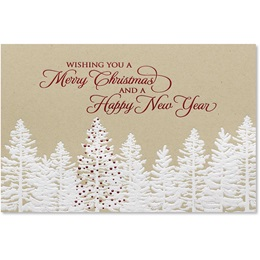 Rustic Christmas Forest Deluxe Holiday Cards