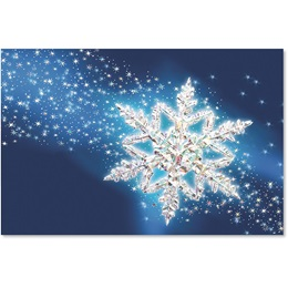 Spectacular Snowflake Deluxe Holiday Cards