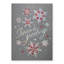 Glitter Snowflakes Deluxe Greeting Card
