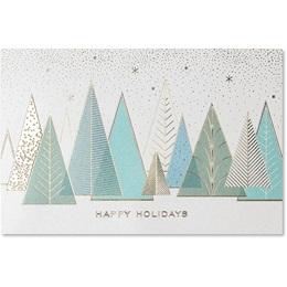 Geometric Treeline Deluxe Holiday Deluxe Cards