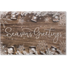 Rustic Season's Holiday Greeting Cards
