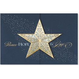 Golden Star Elite Holiday Cards