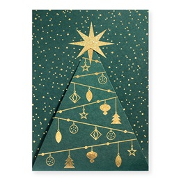 Glittering Tree Holiday Card