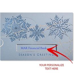 Icy Swirls Holiday Card