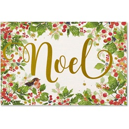 Festive Noel Holiday Boxed Cards