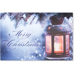 Christmas Lantern Classic Greeting Card