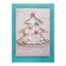 Tropical Tree Deluxe Greeting Card