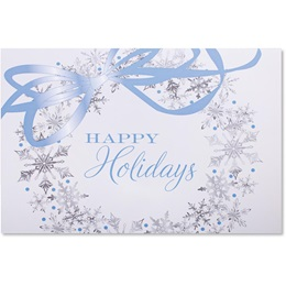 Wreath of Snowflakes Deluxe Greeting Card