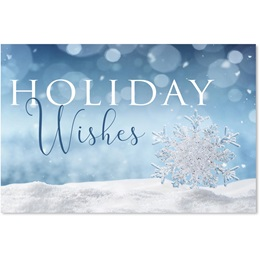 Shimmering Wishes Classic Holiday Card
