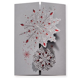 Lavish Snowflakes Elite Greeting Card