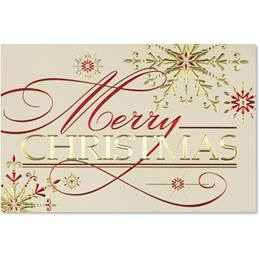 Shining Christmas Deluxe Holiday Greeting Card