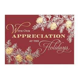 In Appreciation Deluxe Holiday Greeting Card