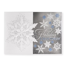 Subtle Snowflake Elite Holiday Greeting Cards