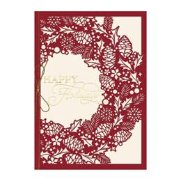Intricate Wreath Premium Holiday Greeting Card