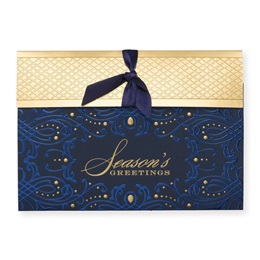 Wrapped in Blue Elite Holiday Greeting Cards