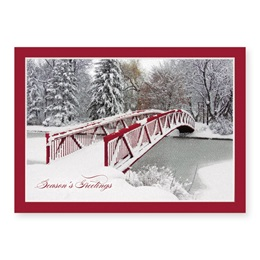 New Fallen Snow Deluxe Holiday Greeting Card