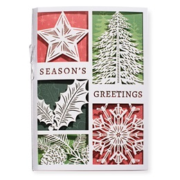 Season's Greetings Elements Premium Greeting Card